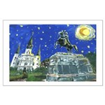 Starry Night Jackson Square Large Poster