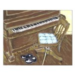 Piano and Chair 16X20 Print