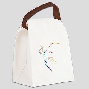 Cat Canvas Lunch Bag