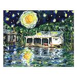 Starry Night River Camp 16x20