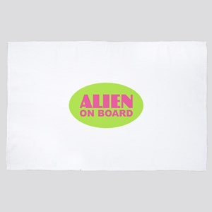 ALIEN on BOARD 4' x 6' Rug