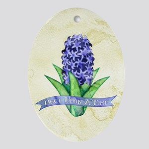 OUAT Hyacinth Flower Oval Ornament