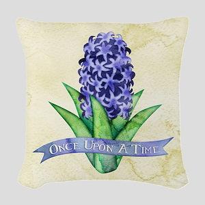 OUAT Hyacinth Flower Woven Throw Pillow