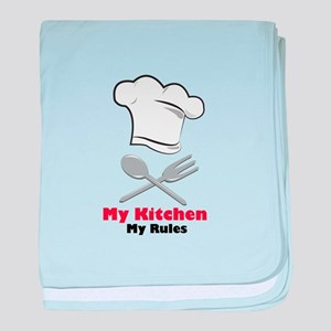 My Kitchen My Rules baby blanket