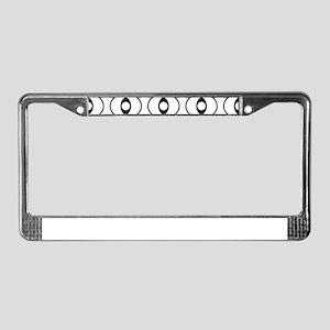 Black&White Pattern License Plate Frame