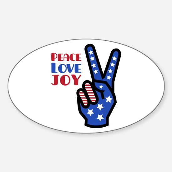 Peace Love Joy Decal