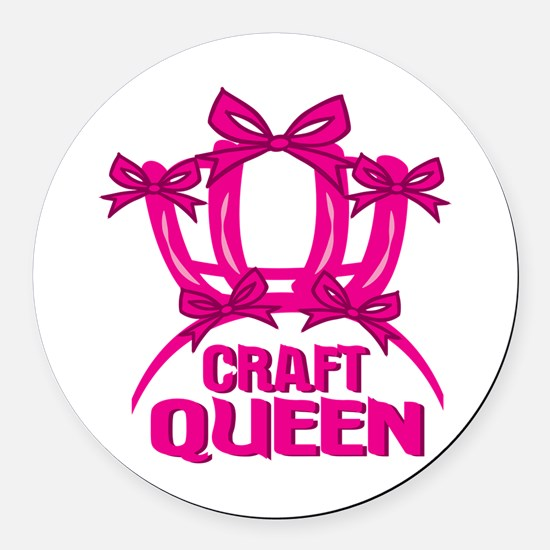 Craft Queen Round Car Magnet