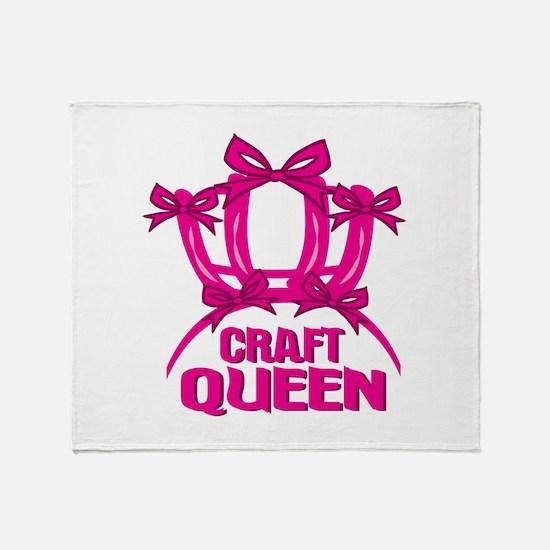 Craft Queen Throw Blanket