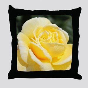 beautiful yellow rose flower Throw Pillow