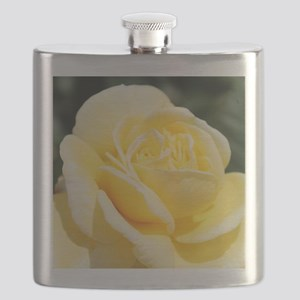 beautiful yellow rose flower Flask