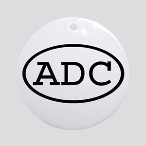 ADC Oval Ornament (Round)