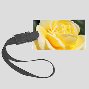 beautiful yellow rose flower Large Luggage Tag