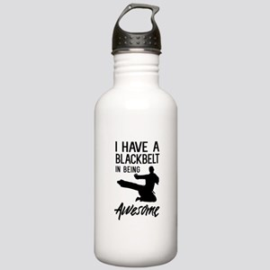I have a blackbelt in being awesome Water Bottle