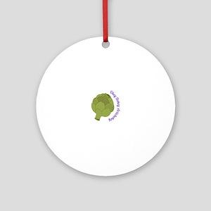 Okey Dokey Artichokey Ornament (Round)