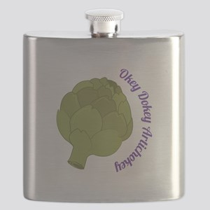 Okey Dokey Artichokey Flask