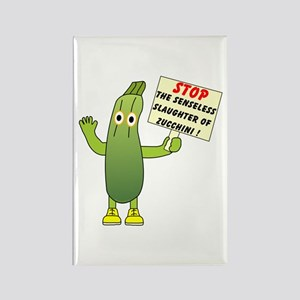 Save Zucchini Rectangle Magnet