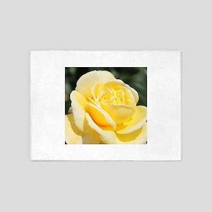 beautiful yellow rose flower 5'x7'Area Rug