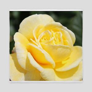 beautiful yellow rose flower Queen Duvet