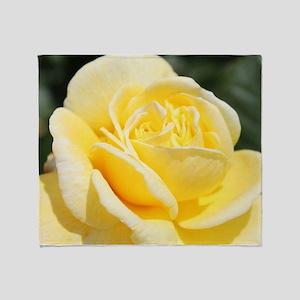 beautiful yellow rose flower Throw Blanket