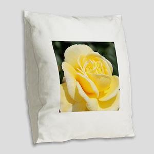 beautiful yellow rose flower Burlap Throw Pillow