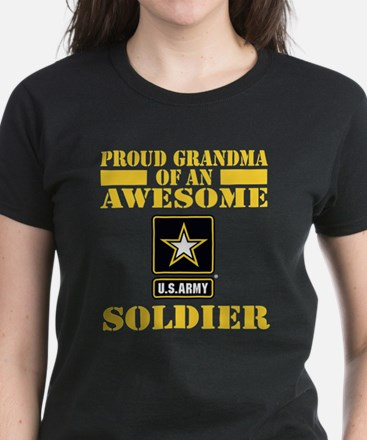 Proud U.S. Army Grandma Women's Dark T-Shirt