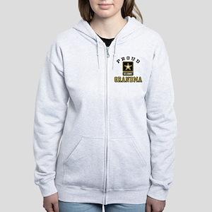 Proud U.S. Army Grandma Women's Zip Hoodie