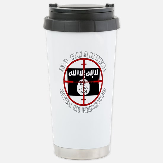 ISIS in our sights, No Quarter Travel Mug