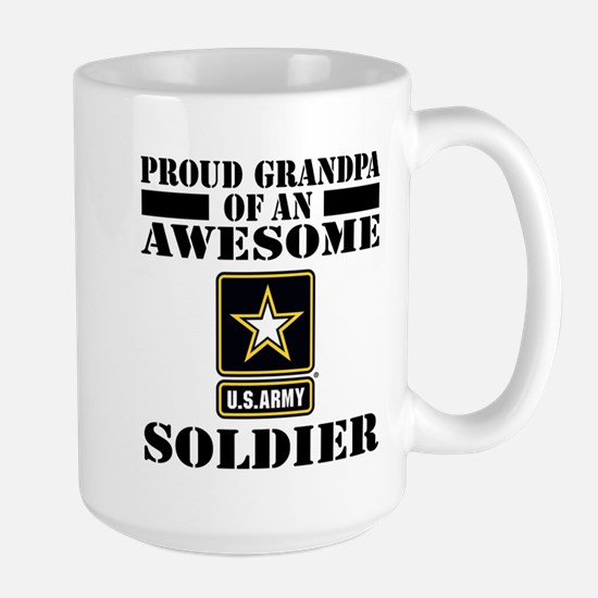 Proud U.S. Army Grandpa Large Mug