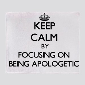 Keep Calm by focusing on Being Apolo Throw Blanket