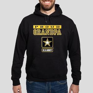 Proud Grandpa U.S. Army Hoodie (dark)