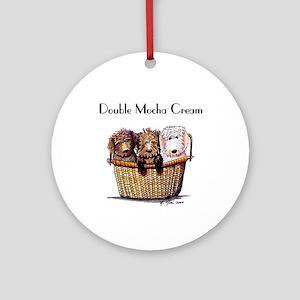 Dbl Mocha Cream Doodle Dog Trio Ornament