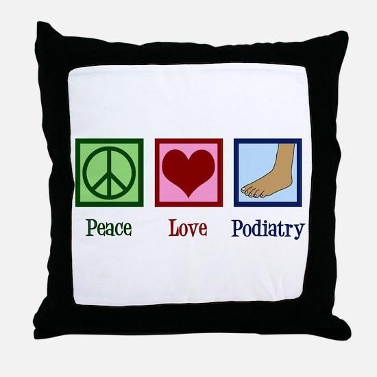 Podiatry Throw Pillow