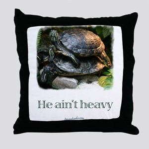 Red-eared Slider Turtles Throw Pillow