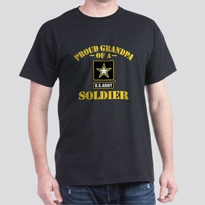 Proud U.S. Army Grandpa Dark T-Shirt