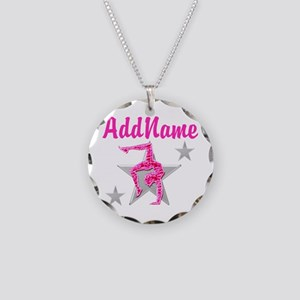GORGEOUS GYMNAST Necklace Circle Charm