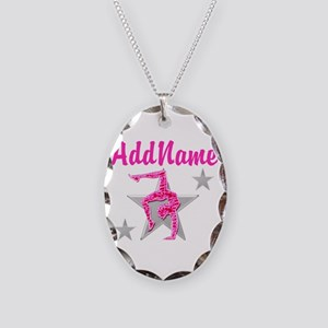 GORGEOUS GYMNAST Necklace Oval Charm