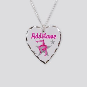 GORGEOUS GYMNAST Necklace Heart Charm