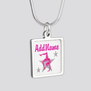 GORGEOUS GYMNAST Silver Square Necklace
