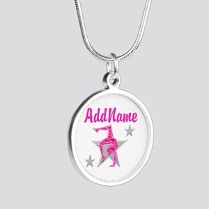 GORGEOUS GYMNAST Silver Round Necklace