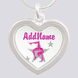 GORGEOUS GYMNAST Silver Heart Necklace