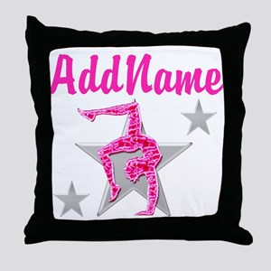 GORGEOUS GYMNAST Throw Pillow