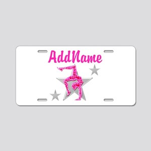 GORGEOUS GYMNAST Aluminum License Plate
