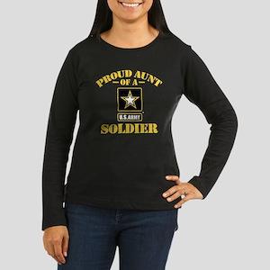 Proud U.S. Army A Women's Long Sleeve Dark T-Shirt