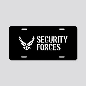 USAF: Security Forces Aluminum License Plate