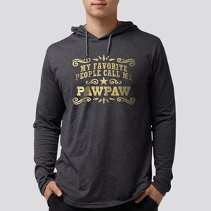 Funny PawPaw Mens Hooded Shirt