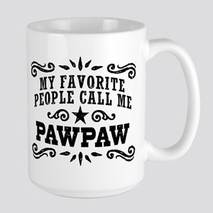Funny PawPaw 15 oz Ceramic Large Mug
