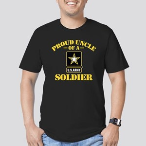 Proud Uncle U.S. Army Men's Fitted T-Shirt (dark)