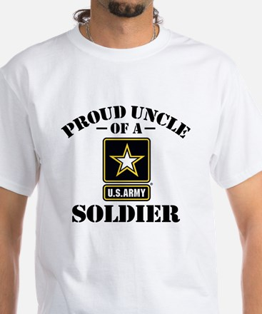 Proud Uncle U.S. Army White T-Shirt