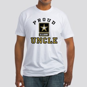 Proud U.S. Army Uncle Fitted T-Shirt