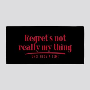 OUAT Regret's Not Really My Thing Beach Towel